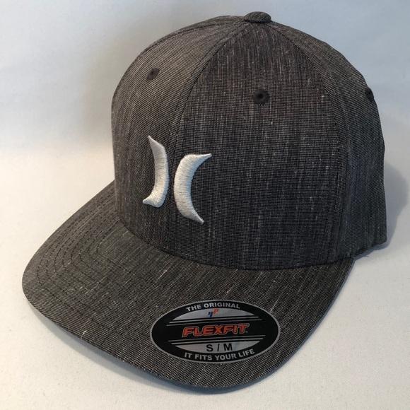 02097079 Hurley Accessories | Black Suits Flexfit Gray Mens Sm Hat Cap | Poshmark